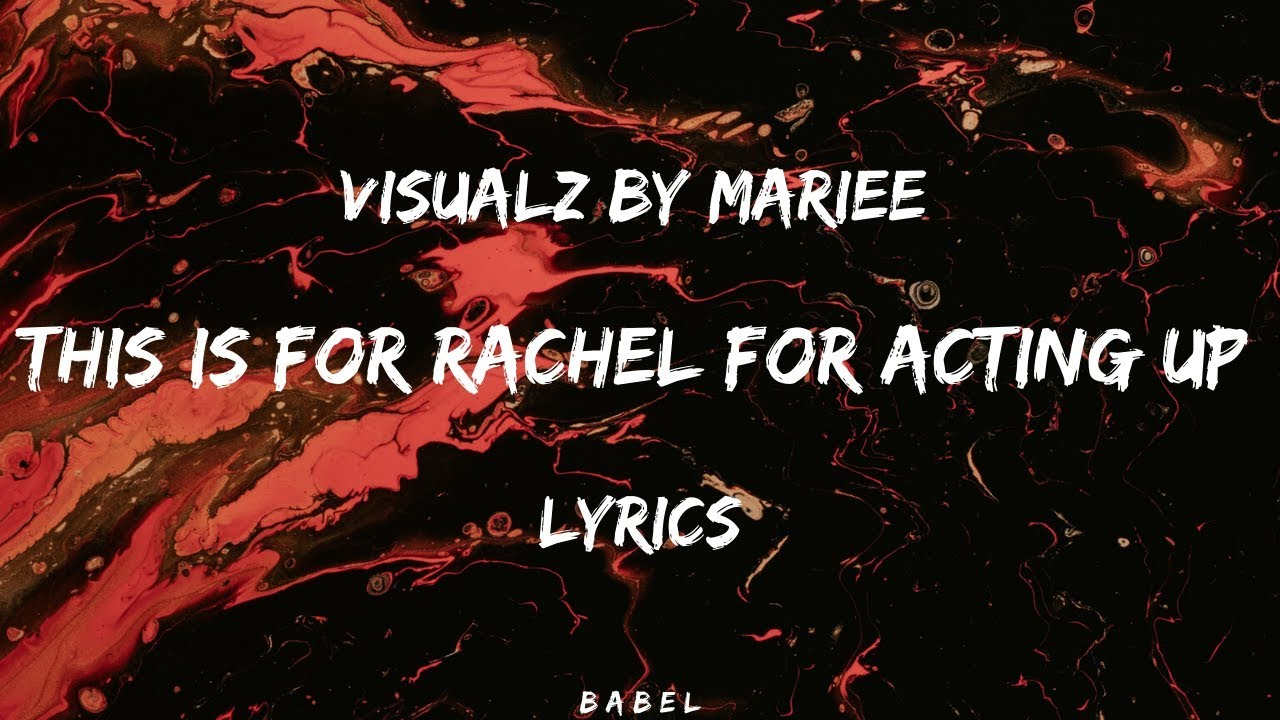 This is for rachel act up remix