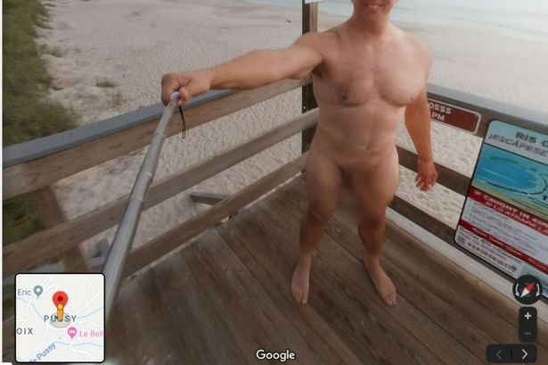 Hot guy on the beach naked