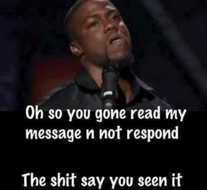 You get my message