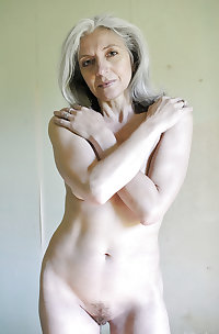 Grey haired naked beauties