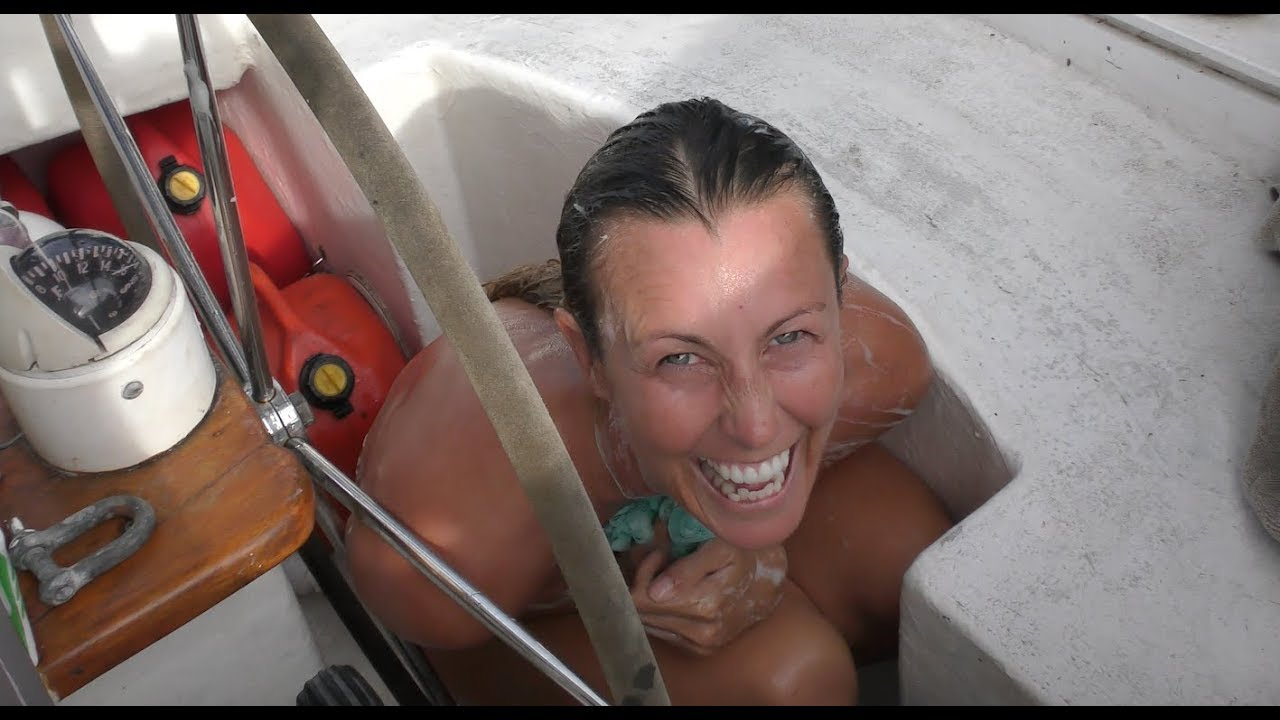 Caught naked on a boat