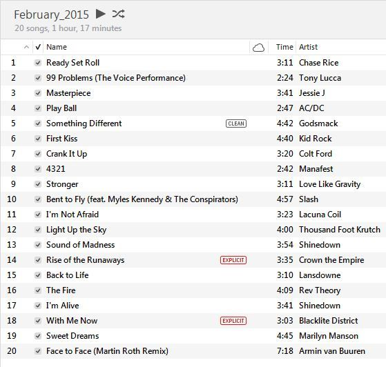 Now 3 songs playlist